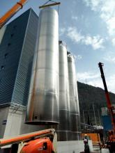 Silos in aluminum alloy